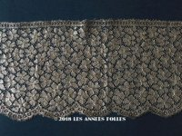 1920年代 アンティーク 幅広 メタルレース  アールデコ 花模様 ゴールド 1.5m