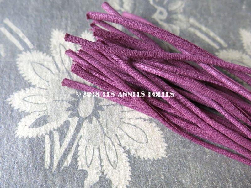 画像2: 1930年代 アンティーク コサージュ用 茎 赤紫 24ピース 9.2〜9.3cm