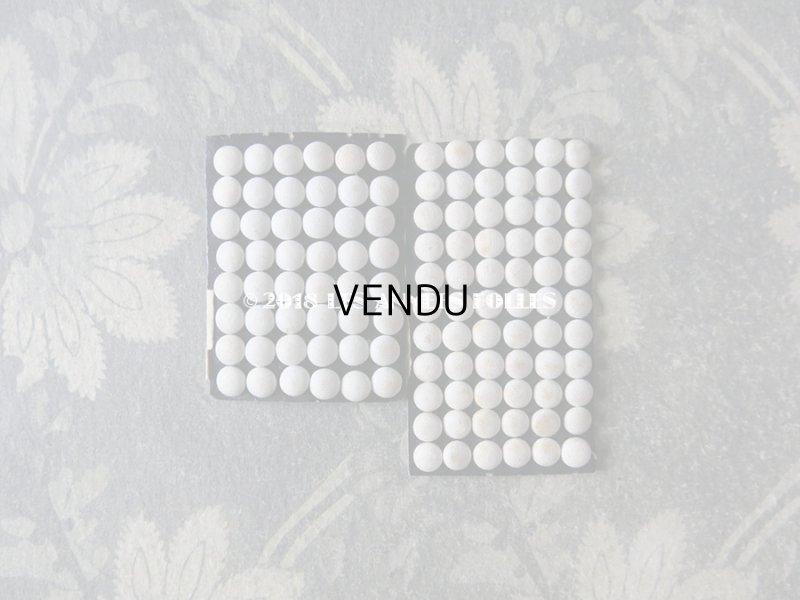 画像5: アンティーク ドール用 5mm リネンのくるみボタンのセット オフホワイト 12ピースのセット