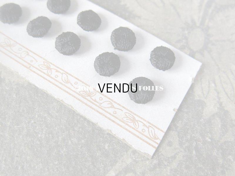 画像4: アンティーク ドール用 シルク製 くるみボタン 極小 8mm 10ピースのセット 黒
