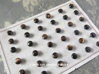 アンティーク ドール用 5mm マザーオブパール製 ボタン シェルボタン ブラウン 6ピースのセット