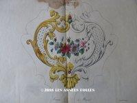 1843年 アンティーク 刺繍図案 暖炉の火気よけ