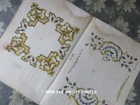 1841年 アンティーク 刺繍図案 花模様