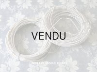 19世紀末 アンティーク 帽子用(ボネ用) ワイヤー シルク糸 オフホワイト 25〜30m