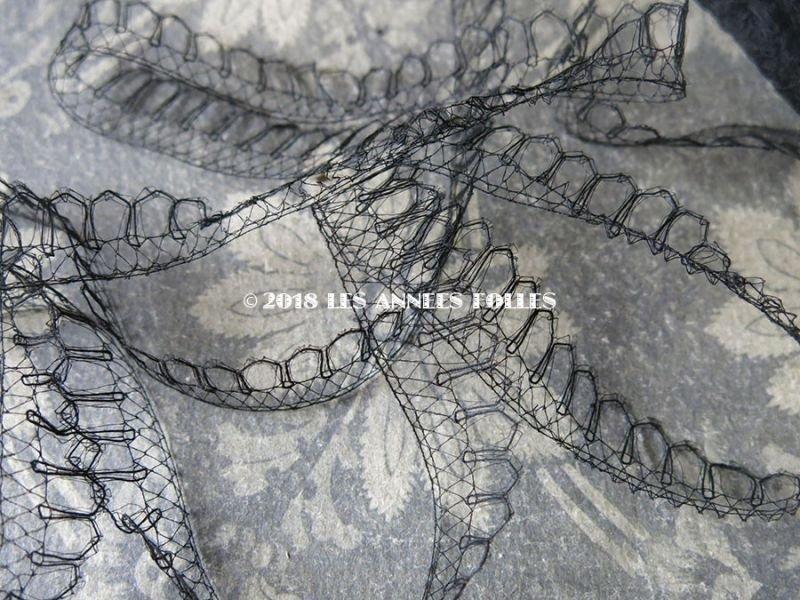 画像5: 1900年代 アンティーク シルク製 レース  1.6cm幅