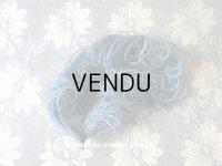 19世紀末 アンティーク 小さなフェザー スモーキーブルー 羽飾り