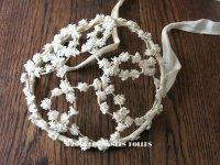 1920年代 アンティーク 白い小さな花のヘッドドレス