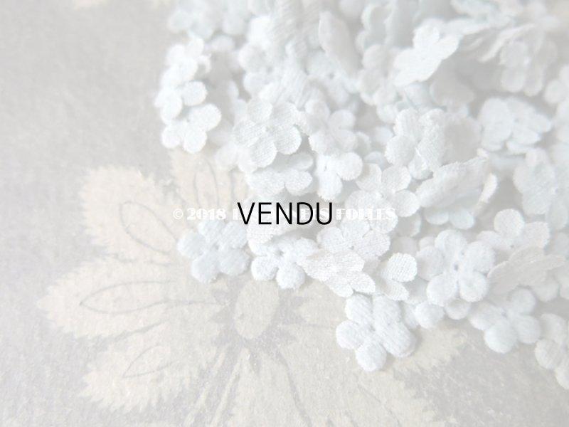 画像2: アンティーク コサージュ材料 勿忘草の花びらのセット 淡いブルー