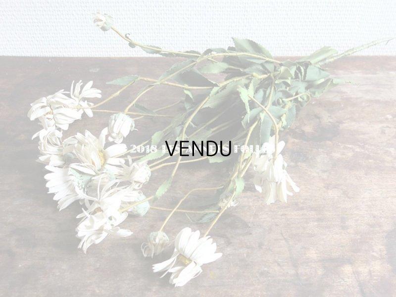 画像2: 1900年代 アンティーク マーガレットの布花のブーケ