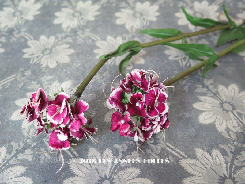 画像1: 1900年代 アンティーク 赤紫色の花のコサージュ
