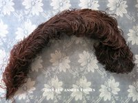 19世紀末 アンティーク  帽子用 フェザー チョコレートブラウン 羽飾り