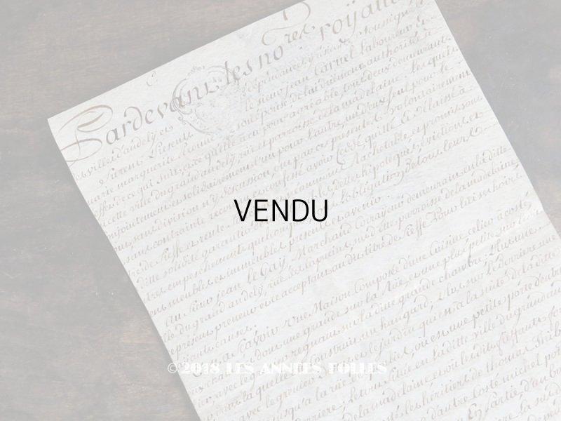 画像1: 19世紀 アンティーク パルシュマン 羊皮紙の古文書