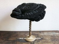 18世紀末 アンティーク 帽子 クレープ素材