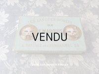 19世紀 アンティーク 『ショコラ・フランソワ・ マルキ』 ラングドシャのお菓子箱  LES LANGUES DOREES DE F.MARQUIS - CHOCOLAT FRANCOIS MARQUIS PARIS -