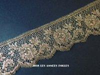 1920年代 アンティーク メタルレース 薔薇 アールデコ ゴールド 105cm