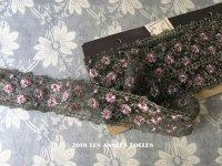 1920年代 アンティーク 花刺繍入り メタルの装飾 スモーキーパープル アールデコ