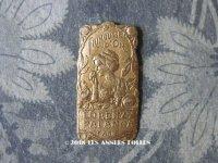 1900年代 アンティーク 小さなパフュームラベル 貴婦人と薔薇 FRIMOUSSE D'OR - LORENZY-PALANCA -