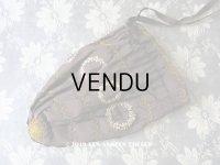 19世紀 ナポレオン3世時代 アンティーク リボン刺繍のオモニエール シルク製