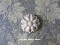 アンティーク 石膏のオーナメント 花