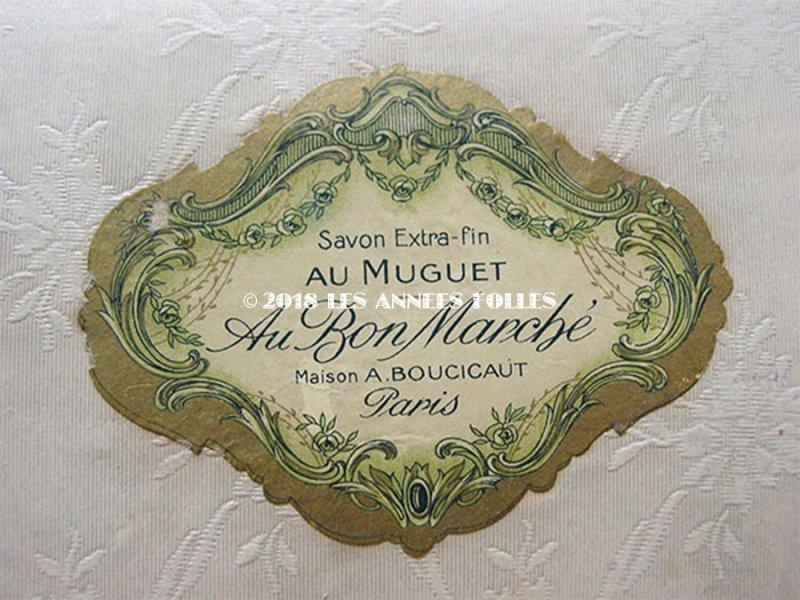 画像2: アンティーク ボンマルシェ 鈴蘭のソープボックス SAVON EXTRA-FIN AU MUGUET - AU BON MARCHE PARIS - 15