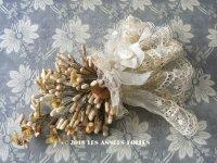 1900年代 アンティーク ワックスフラワーのブーケ ウェディングブーケ  結婚式 ティアラ