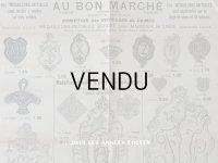 アンティーク ボンマルシェのカタログ イニシャルのメダイヨン MEDAILLONS-INITIALES - AU BON MARCHE - 10