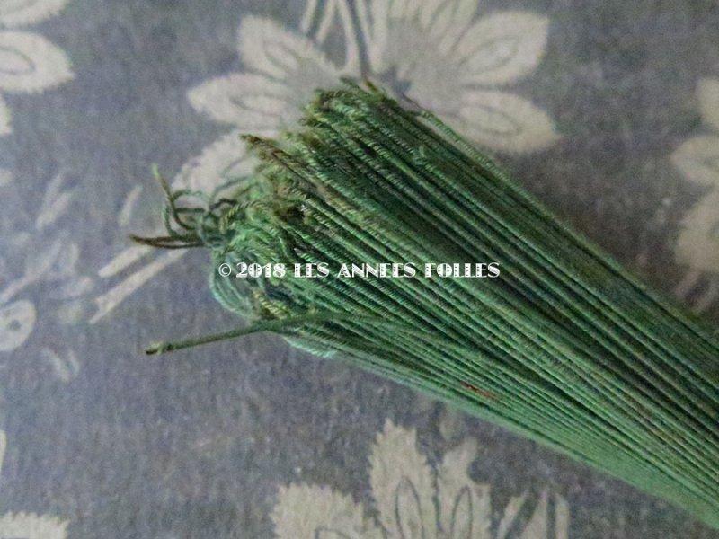 画像2: アンティーク コサージュ用 茎 ワイヤー グリーン 400〜500本 12cm