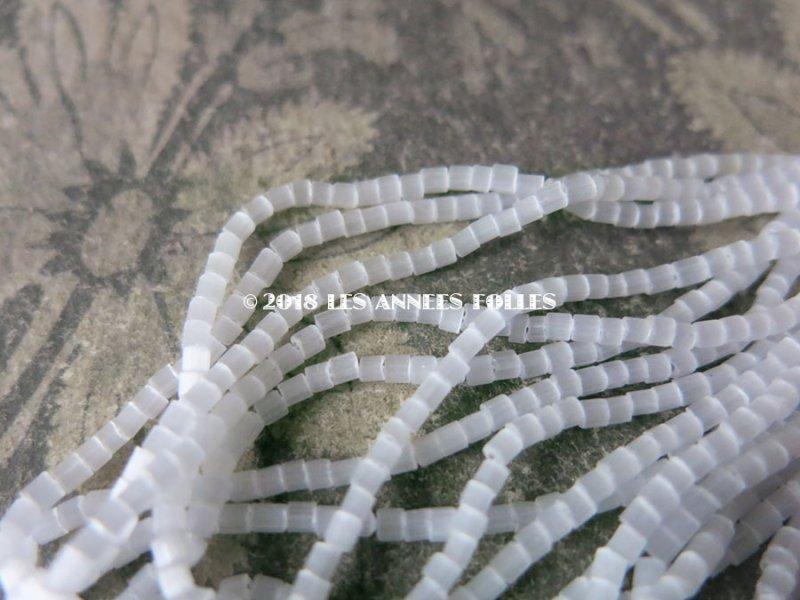 画像3: 【クリスマスセール2018対象外】 アンティーク ガラス製 ビーズ ホワイト 2×2.5mm 約760ピース