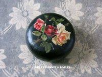 19世紀 ナポレオン3世 アンティーク 薔薇のボックス パピエマシェ 小物入れ