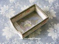 1900年代 アンティーク プリンセスの目覚め 小さな小物入れ 花のジャガード織