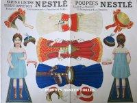 1900年代 アンティーク クロモシート 着せ替え人形セット - NESTLE -