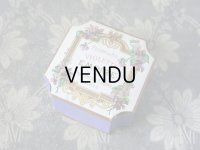 未使用 アンティーク 菫のパウダーボックス POUDRE DE RIZ VIOLETTE EMPIRE - PARFUMERIE ERIZMA PARIS -