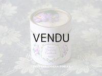 アンティーク 菫の布花入り 小さなパフュームボックス  ESSENCE VIOLETTES DE TOULOUSE - BERDOUES FRANCE -