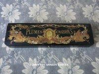 19世紀 ナポレオン3世 アンティーク  ペンケース 天使 パピエマシェ PLUMES & CRAYONS