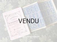 アンティーク クロスステッチの刺繍図案帳 ALPHABETS VARIES - N.ALEXANDRE&CIE -