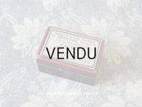 アンティーク ファーマシーボックス 黒&赤&白