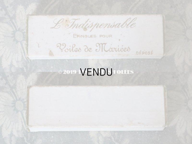 画像2: 1900年代 アンティーク ウェディングヴェールのエパングルのボックス オフホワイト L'INDISPENSABLE EPINGLES POUR VIOLES DE MARIEES