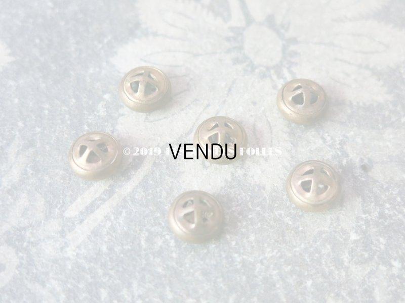 画像3: アンティーク エナメル ボタン 薔薇とロカイユ装飾 2ピースのセット ハンドペイント 9mm