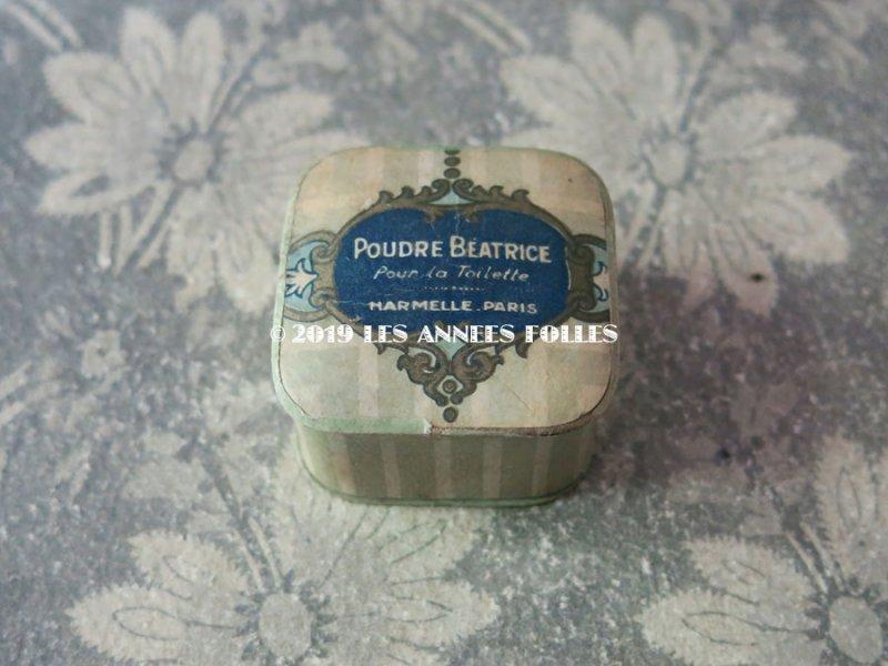 画像2: アンティーク 小さなパウダーボックス POUDRE BEATRICE POUR LA TOILETTE - HARMELLE PARIS -