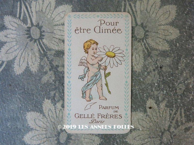 画像1: アンティーク 天使のパフュームカード POUR ETRE AIMEE - GELLE FRERES PARIS -