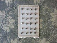 【9周年セール対象外】 アンティーク 極小 メタルボタン 5mm弱 4ピースのセット