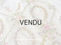 【9周年セール対象外】 アンティーク リボン刺繍のパネル ファブリック