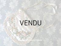1820年代 アンティーク シルク製 ロココ調 オモニエール