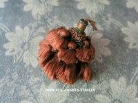 19世紀末 アンティーク シルク製 ポンポン タッセル ライトブラウン パスマントリー