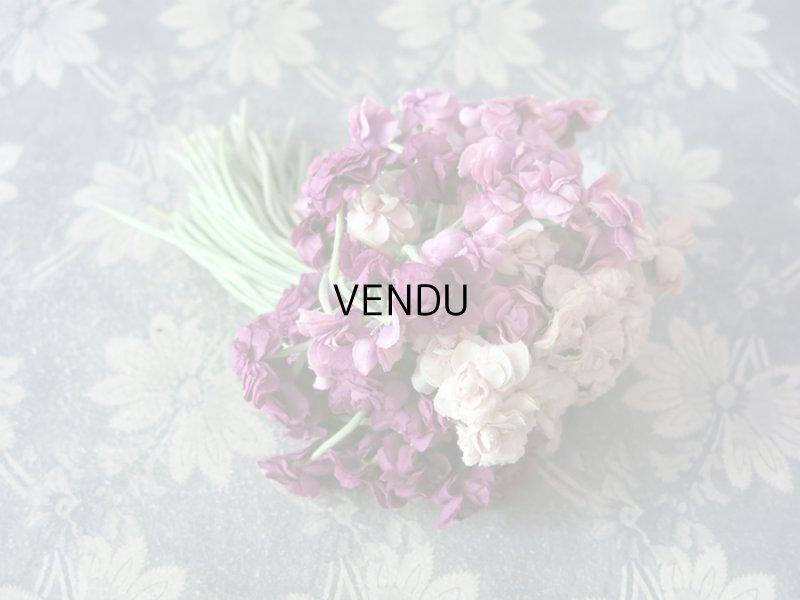 画像2: アンティーク 3色の薔薇の大きなブーケ 100輪 布花  コサージュ