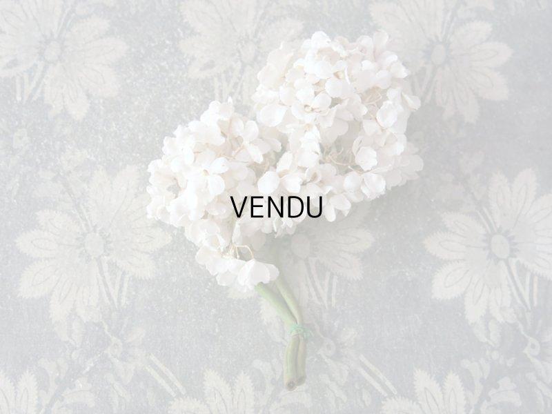 画像2: アンティーク 白い花のコサージュ 布花