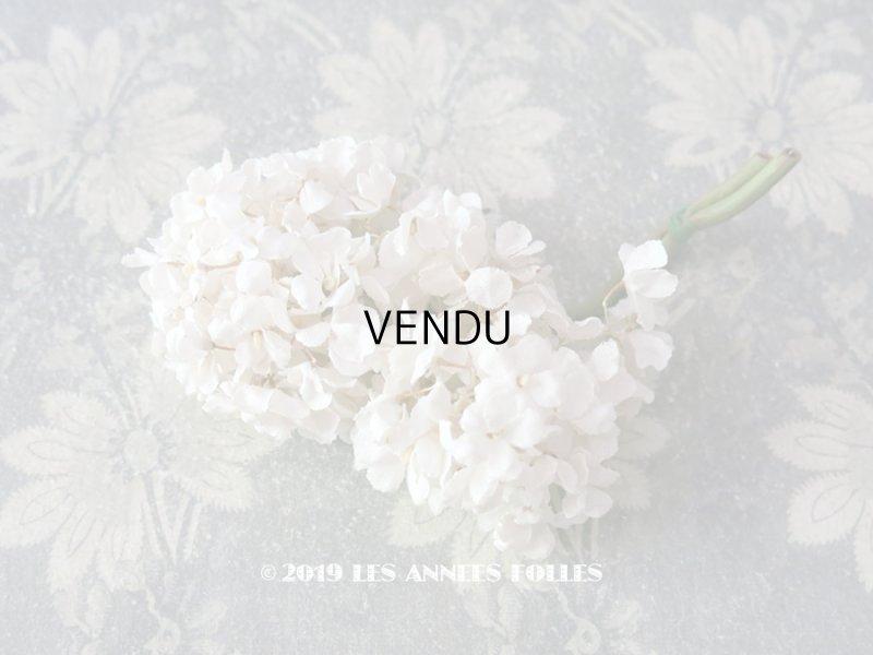 画像1: アンティーク 白い花のコサージュ 布花