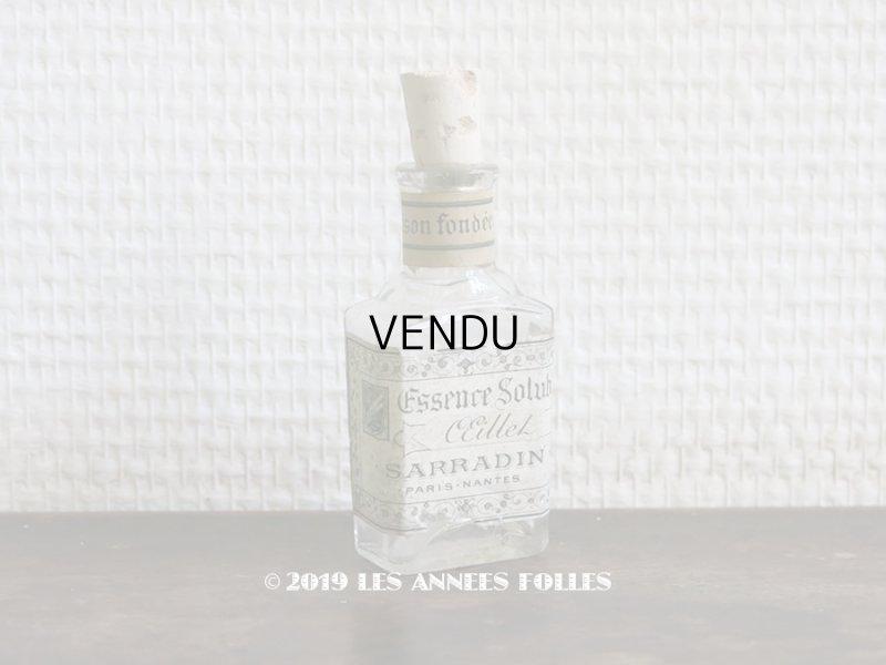 画像1: 19世紀 アンティーク パフュームボトル ESSENCE SOLUBLE OEILLET  - SARRADIN PARIS -