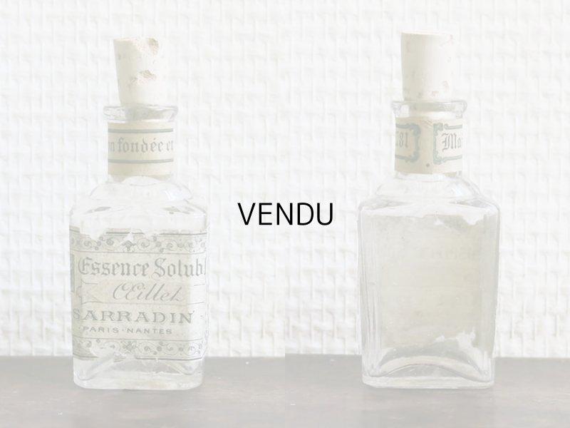 画像2: 19世紀 アンティーク パフュームボトル ESSENCE SOLUBLE OEILLET  - SARRADIN PARIS -