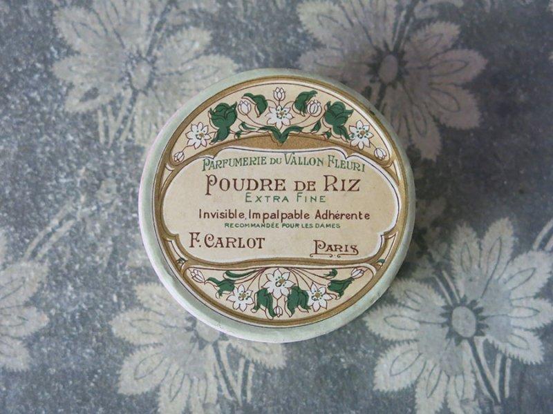 画像3: アンティーク パウダーボックス POUDRE DE RIZEXTRA FINE - F.CARLOT PARIS -